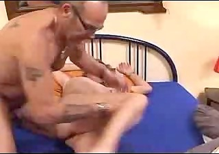 perverted aged couple soak the bed
