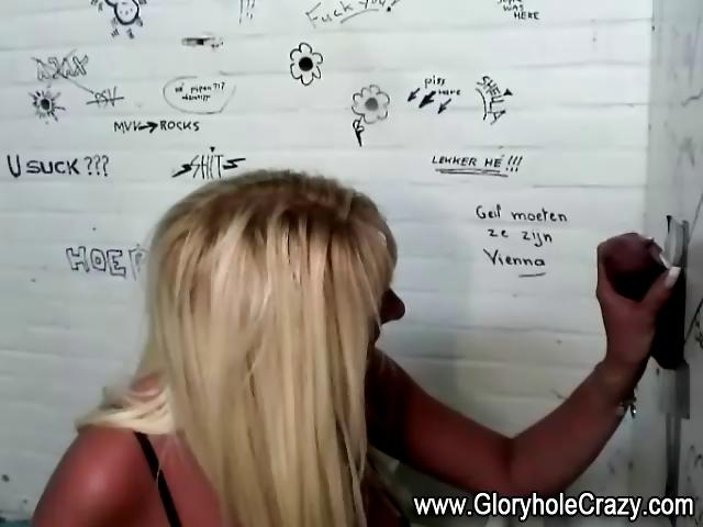 large tits gloryhole golden-haired likes shlong