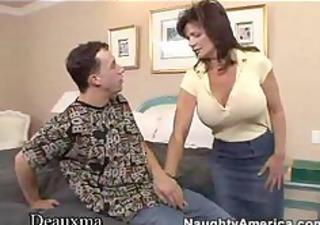 deauxma receives her arse fucked by a young dude