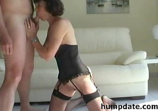 horny aged sucks hubbys jock and acquires defaced